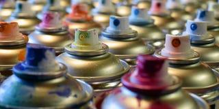 Kiści farby puszki Obrazy Stock