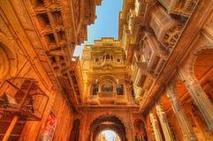 Ki Haveli de Patwon em Jaisalmer Imagem de Stock Royalty Free