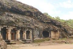 Ki Khai de Ravan, caverna 14, Ellora Caves, Índia Imagem de Stock Royalty Free