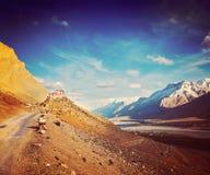 Ki monaster. Spiti dolina, India Fotografia Royalty Free