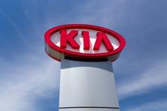 Kia Autombile Dealership Sign Photographie stock libre de droits