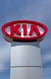 Kia Autombile Dealership Sign Stock Photos