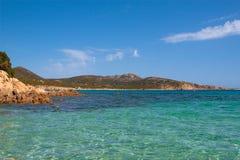 Kia beach. This is the famous Kia beach in Cagliari (Sardegna, Italy royalty free stock photos