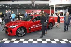Kia bij het Car Show van Belgrado Royalty-vrije Stock Afbeeldingen