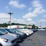 Kia Car Lot Stock Photo