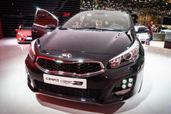 Kia Ceed GT Line, Motor Show Geneve 2015. Royalty Free Stock Images