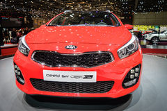 KIA ceed SW GT Line, Motor Show Geneve 2015. Stock Images