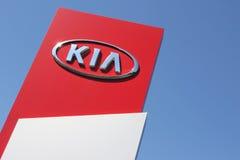 Kia dealership sign Stock Photos