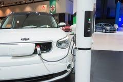 Kia electric charging station Royalty Free Stock Photo