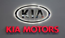 KIA MOTORS Company Logo Stock Photos