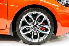 Kia Motors werd opgericht in 1957 en is second-largest automobiele fabrikant van Zuid-Korea stock afbeeldingen