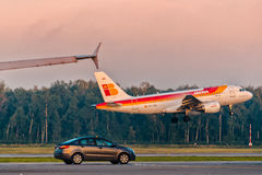 KIA och flygbuss Royaltyfri Fotografi