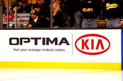 Kia Optima hockey dasher Stock Photos