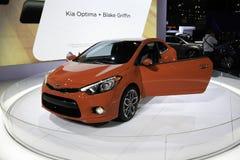 Kia Optima stellte an der New- Yorkautomobilausstellung zur Schau Lizenzfreie Stockfotografie