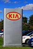 KIA przedstawicielstwa firmy samochodowej znak Zdjęcie Royalty Free