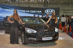 KIA Quoris-auto modelpresentatie Royalty-vrije Stock Afbeelding