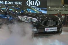 KIA Quoris car model presentation Stock Image