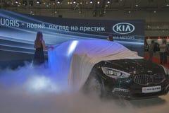 KIA Quoris car model presentation Royalty Free Stock Image