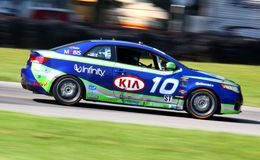 Kia racing car Stock Images