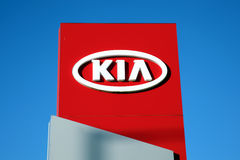 Kia silnika firmy znak Zdjęcie Royalty Free