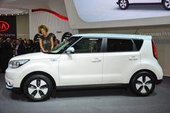 Kia Soul EV al salone dell'automobile di Ginevra Immagini Stock Libere da Diritti