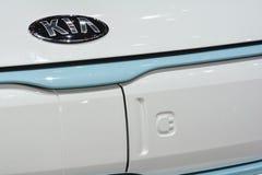 Kia Soul EV al salone dell'automobile di Ginevra Immagine Stock