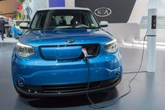Kia Soul EV on display Stock Photo