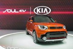 Kia Soul EV on display Royalty Free Stock Photography
