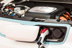 Kia Soul EV Electric Car Charge At Power Supply Royalty Free Stock Images