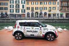Kia Soul exhibition, Fuorisalone at Navigli Design District Royalty Free Stock Photos