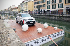 Kia Soul exhibition, Fuorisalone at Navigli Design District Stock Photography