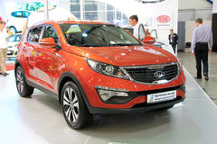 KIA Sportage. KIEV - MAY 26: KIA Sportage at yearly automotive-show SIA 2011. May 26, 2011 in Kiev, Ukraine Stock Image