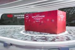 Kia Sportage-autodebuut Stock Foto's