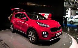 KIA Sportage an den IAA-Autos Lizenzfreies Stockfoto