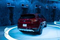 KIA Sportage Red Colour Exposition su Chicago Autoshow 02/17/2019 immagine stock