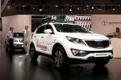 Kia Sportage - russian premiere Stock Photo