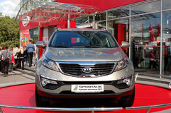 Kia Sportage at Yearly automotive-show Stock Image