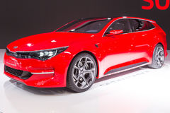 2015 KIA Sportcoupe Concept. Geneva, Switzerland - March 4, 2015: 2015 KIA Sportcoupe Concept presented on the 85th International Geneva Motor Show Royalty Free Stock Images
