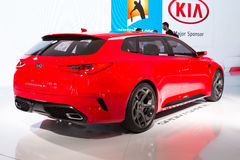 2015 KIA Sportcoupe Concept. Geneva, Switzerland - March 4, 2015: 2015 KIA Sportcoupe Concept presented on the 85th International Geneva Motor Show Stock Photos