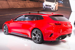 2015 KIA Sportcoupe Concept. Geneva, Switzerland - March 4, 2015: 2015 KIA Sportcoupe Concept presented on the 85th International Geneva Motor Show Stock Photo