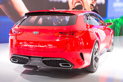 2015 KIA Sportcoupe Concept. Geneva, Switzerland - March 4, 2015: 2015 KIA Sportcoupe Concept presented on the 85th International Geneva Motor Show Stock Photography