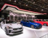 2019 Kia Stinger GT, forte GT et âme GT images libres de droits