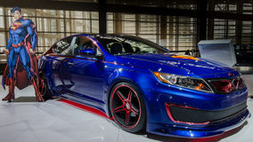 2013 Kia Superman Optima Hybrid Royalty-vrije Stock Foto