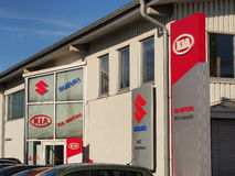 KIA and Suzuki dealership Royalty Free Stock Photography
