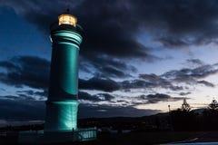 Kiama latarnia morska przy zmierzchem, Kiama, NSW, Australia fotografia royalty free