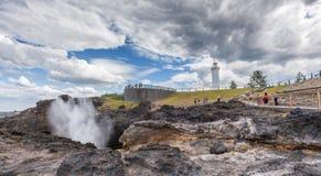 Kiama lighthouse and blowhole, Australia Stock Image