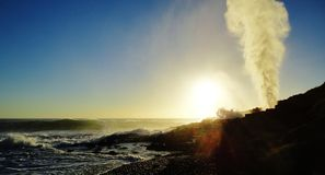 Kiama's Little Blowhole Stock Image