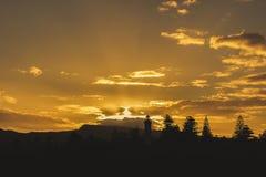 Kiamavuurtoren bij zonsondergang, Kiama, NSW, Australië royalty-vrije stock fotografie