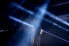 Kiasmos minimalny i eksperymentalny techno duet w koncercie przy sonaru festiwalem Zdjęcie Royalty Free