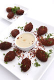 Kibbe and hummus tahine Stock Images